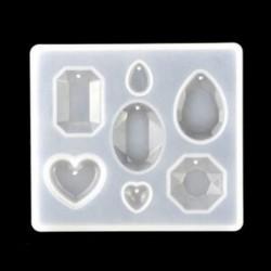 * 6 Szilikon nyaklánc függő penész DIY gyanta dekoratív kézműves ékszer készítés penész