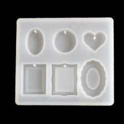 * 7 Szilikon nyaklánc függő penész DIY gyanta dekoratív kézműves ékszer készítés penész