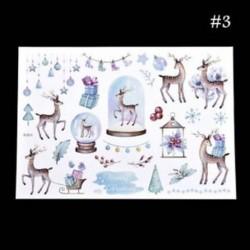 * 3 Santa Claus / Elk / Hóember Karácsonyi Uncut matricák DIY Planner Diary Album Decor