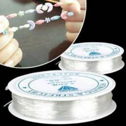 2 Pack 0,6 mm-es rugalmas, rugalmas gyöngyfűző szálak a DIY ékszerkészítéshez