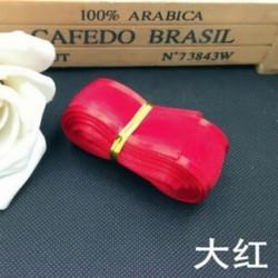 Piros DIY 5yds 1 &quot (25mm) Satin Edge Organza szalag íj esküvői dekoráció csipke kézműves