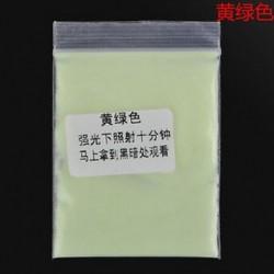 Sárga zöld Fluoreszkáló szuper fényes ragyogás a sötét fényes por ragyogás pigment pártjában