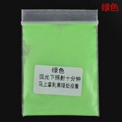 Zöld Fluoreszkáló szuper fényes ragyogás a sötét fényes por ragyogás pigment pártjában