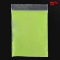 Sárga Fluoreszkáló szuper fényes ragyogás a sötét fényes por ragyogás pigment pártjában