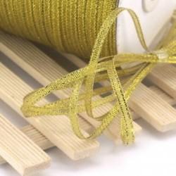 Arany 20 yard (4mm) 1 / 8`` Fémes csillogás csillogó szalagok Karácsonyi csomagolás ajándék