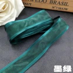 Zöld 5yds 1 &quot (25mm) Satin Edge Organza szalag íj esküvői dekoráció DIYLace kézműves