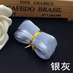 Ezüstszürke 5yds 1 &quot (25mm) Satin Edge Organza szalag íj esküvői dekoráció DIYLace kézműves