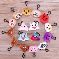 1 csomag Emoji smile figura mosoly Kulcstartó Aranyos Táska dekoráció Party Kellék random