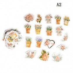 A2 45db Kawaii Journal napló dekor Virág matricák Scrapbooking írószerek JP