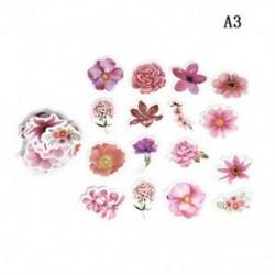 A3 45db Kawaii Journal napló dekor Virág matricák Scrapbooking írószerek JP