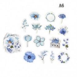 A6 45db DIY Kawaii folyóirat napló dekoráció Virág matricák Scrapbooking írószerek