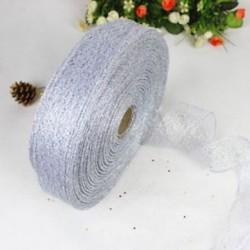 Ezüst Színes szalag csipke karácsonyi karácsonyi fa dekoráció esküvői party dísz 200 * 5cm
