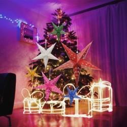 1x Karácsfa fenyőfa csillag dísz szoba lakás dekoráció