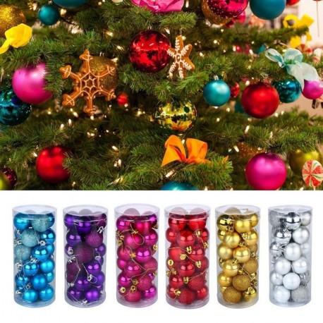 24db 4CM Glitter csillogó Karácsonyfa fenyőfa dísz ünnepi dekoráció