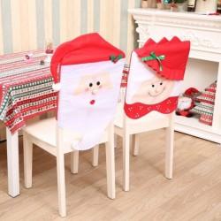 1db Szép karácsonyi szék huzat dekoráció Mikulás Téklapó mintás dekoráció