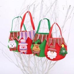 1x Karácsonyi cukorka tároló táska Mikulás hóember karácsony otthon dekoráció