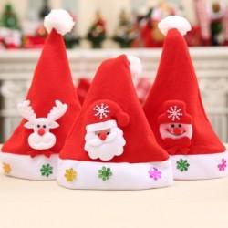 1x Szép karácsonyi sapka dekoráció gyerek kalap Télapó Mikulás sapka