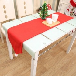 1x Karácsonyi asztal szatén terítő piros színben