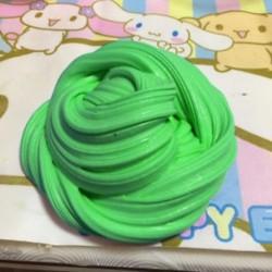Zöld Fluffy Slime Floam ADHD autizmus felnőtt stresszcsökkentő gyerekek 60ml / 2.2oz HOT
