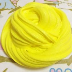 Sárga Színes bolyhos Floam Slime illatos stresszoldó játék Nincs borax gyerekek iszapjáték