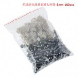 8mm 100db 6-20mm fekete műanyag biztonsági szemek mackó / babák / játékállatok / filcek számára