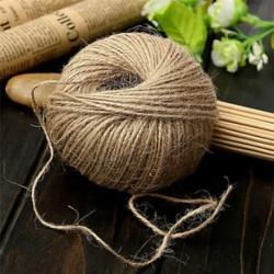 30M Shabby természetes barna juta zsineg rusztikus húros zsinór Wrap kézműves készítés decors