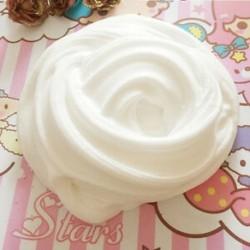 fehér Fluffy Slime Floam ADHD autizmus felnőtt stresszcsillapító gyerekek 60ml / 2.2oz Új