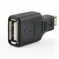 USB 2.0 nő a Micro USB B-hez 5 érintkezős férfi dugó OTG adapter átalakító fekete