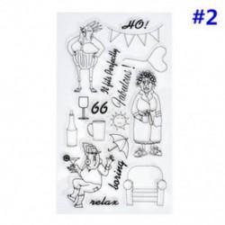 2 * Szilikon tiszta gumi bélyegek pecsét Scrapbooking Album kártya dekoráció napló Craft DIY