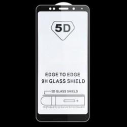 Fekete Xiaomi Redmi 5P-hez 1x teljes borítású edzett üveg képernyővédő fólia Xiaomi Redmi 5A 4A 4 Mi6