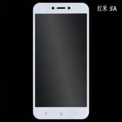 Fehér A Xiaomi Redmi 5A megjegyzéshez 1x teljes borítású edzett üveg képernyővédő fólia Xiaomi Redmi 5A 4A 4 Mi6