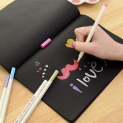 DIY fekete papír vázlatos könyvnapló rajzfestészethez Graffiti   puha borító Új