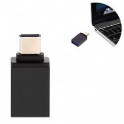 Fekete Új OTG USB 3.1 adatszinkronizáló töltőadapter átalakító C típusú férfi és USB 3.0 nő