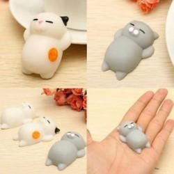 1db puha macska Squishy gyógyító Squeeze szórakoztató gyerek játék ajándék stressz kímélő dekoráció