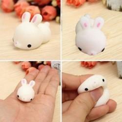 Puha, aranyos nyuszi nyúl Squishy Squeeze gyógyító stresszoldó játék ajándék dekoráció JP