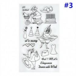 3 * Szilikon tiszta gumi bélyegzők pecsét Scrapbooking Album kártya napló dekoráció DIY kézműves