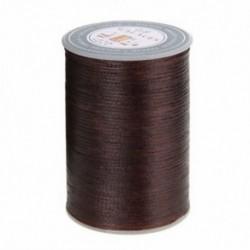 Sötétbarna Waxed Thread 0.8mm 90m poliészter kábel varrás varrással bőr kézműves karkötő