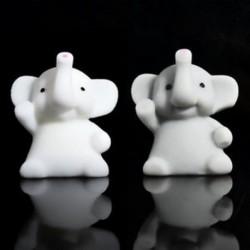 1PCS fehér elefánt Soft Squishy Slow Rising Charm Squeeze Kid Toys stresszcsökkentő szórakoztató játékgyűjtemény