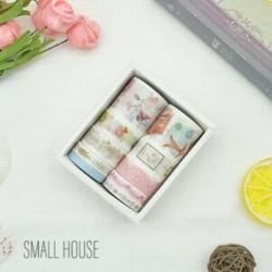 * 6 Kis Ház 10 Rolls papír Washi szalag dekoratív Scrapbooking ragasztó matrica kézműves ajándék