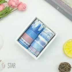 * 7 csillag 10 Rolls papír Washi szalag dekoratív Scrapbooking ragasztó matrica kézműves ajándék