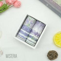 * 9 Wisteria 10 Rolls papír Washi szalag dekoratív Scrapbooking ragasztó matrica kézműves ajándék