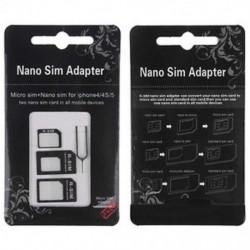 Nano SIM kártya a Micro Standard adapter adapter átalakító készlethez az iPhone 5S 4S 4 készülékhez