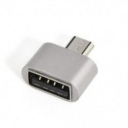Ezüst Új Micro USB 2.0 női USB 3.1 típusú C típusú férfi átalakító USB-C OTG adapter