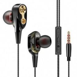 * 7 Fekete 3,5 mm w / Mic Super basszuszene fülhallgató fülhallgató fülhallgató fülhallgató fülhallgatóval
