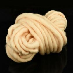 Bézs 250G Chunky gyapjú fonal Super Soft Bulky kar Kötés gyapjú Roving horgolás DIY