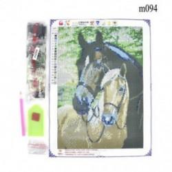 Ló (30 x 30 cm) DIY teljes fúró 5D gyémánt festés hímzés kereszt kézműves öltés kit Home Decor