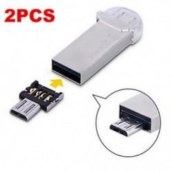 Android Tablet Telefon 2 X Micro USB-hím USB-hez OTG adapter átalakító