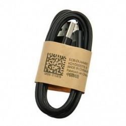 Fekete 1M Micro USB adatszinkron töltő töltő kábel kábel Samsung HTC Android telefonhoz