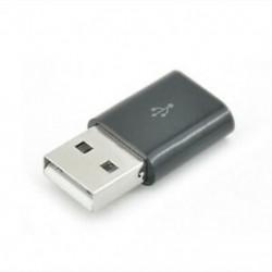 Fekete Micro USB női USB 2.0 csatlakozó adapter mobil telefonhoz 1db