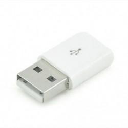 fehér Micro USB női USB 2.0 csatlakozó adapter mobil telefonhoz 1db